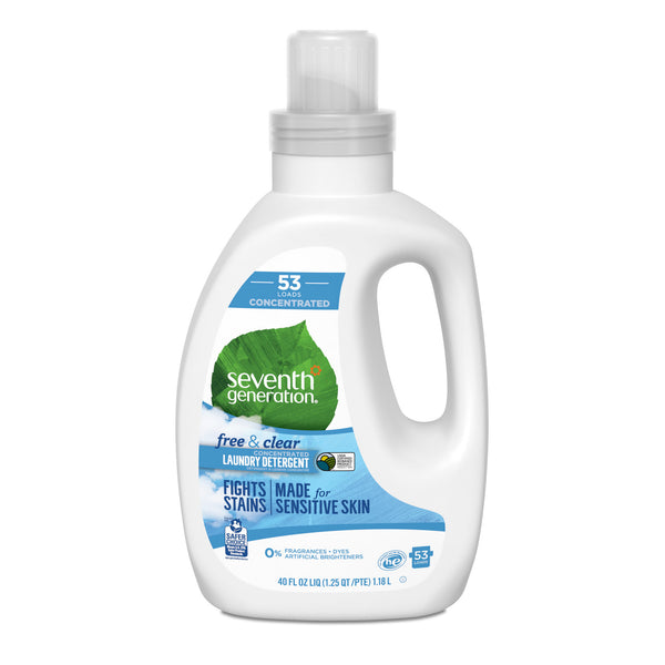 Natural Concentrated Laundry detergent FREE & CLEAR Sensitive Skin (1.18L)