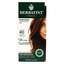 "Load image into Gallery viewer, Pregnancy Safe AMONIA FREE ""Hair Color"" - 4D Golden Chestunt 150ml - BambiniJO"