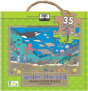 "iKids - Under the Sea Giant Floor Puzzle - 35 Piece ""61x91 cm"" - BambiniJO"
