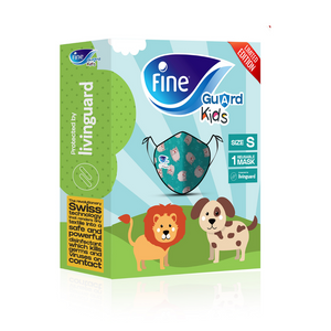 "Fine Guard Reusable Kids Face Mask With Livinguard Technology, ""Limited Edition"""