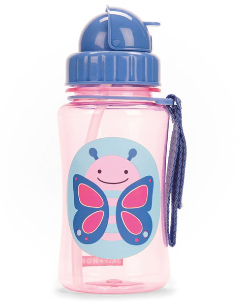 Zoo Straw Bottle Blossom - Butterfly - BambiniJO