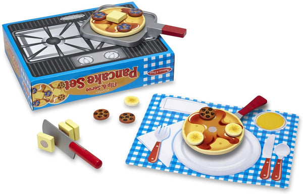 Melissa & Doug - WOODEN FLIP & SERVE PANCAKE SET