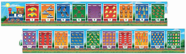 Melissa & Doug NUMBER TRAIN FLOOR PUZZLE (20 PC)