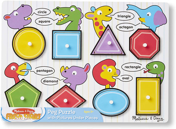Melissa & Doug SHAPES Peg Puzzle 2Y+