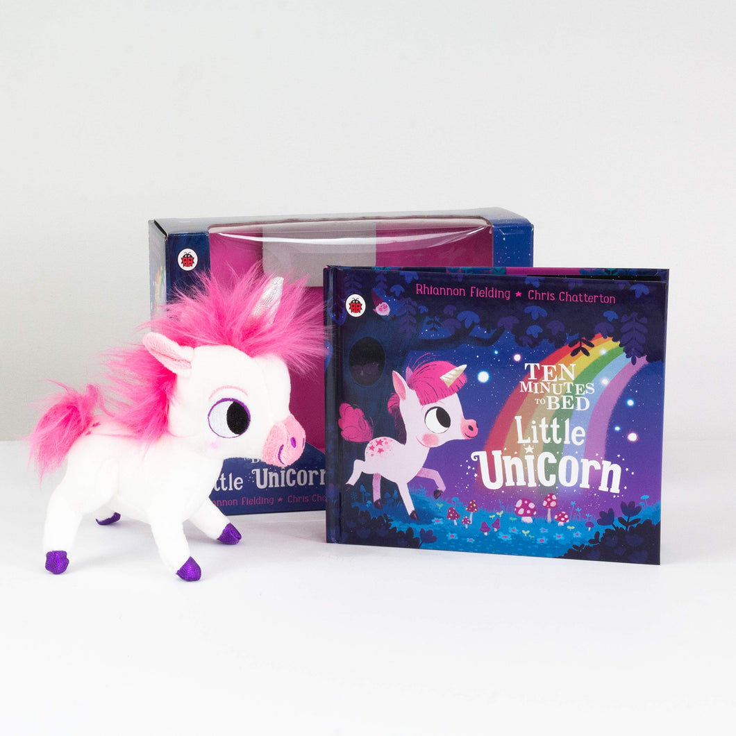 Ten Minutes to Bed: Little Unicorn toy and book set - BambiniJO