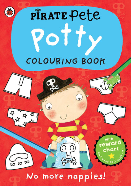 Pirate Pete: Potty Colouring Book - BambiniJO