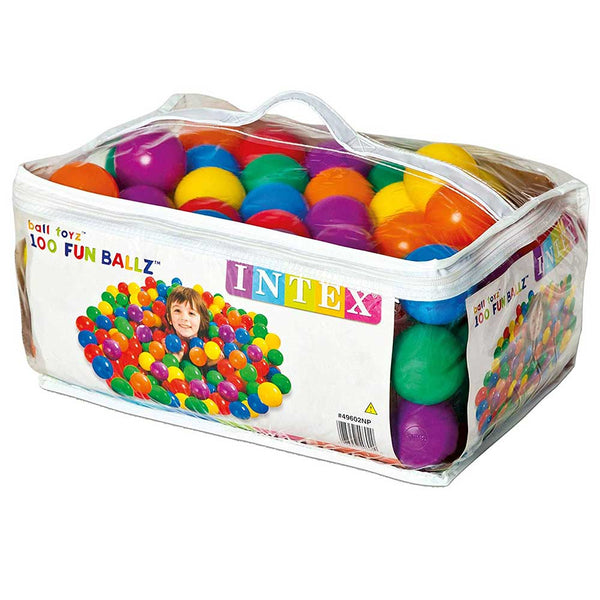 Intex - 100 Fun Balls With Carry Bag ( 6.5 cm Diameter)