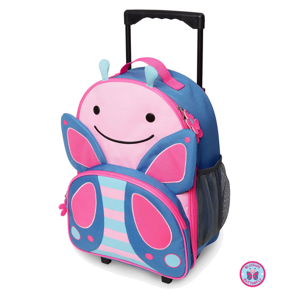 Zoo Kids Rolling Luggage Blossom - Butterfly - BambiniJO