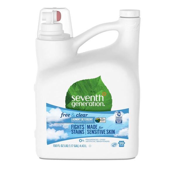 NATURAL LAUNDRY DETERGENT FREE & CLEAR (4.43L) For Sensitive Skin