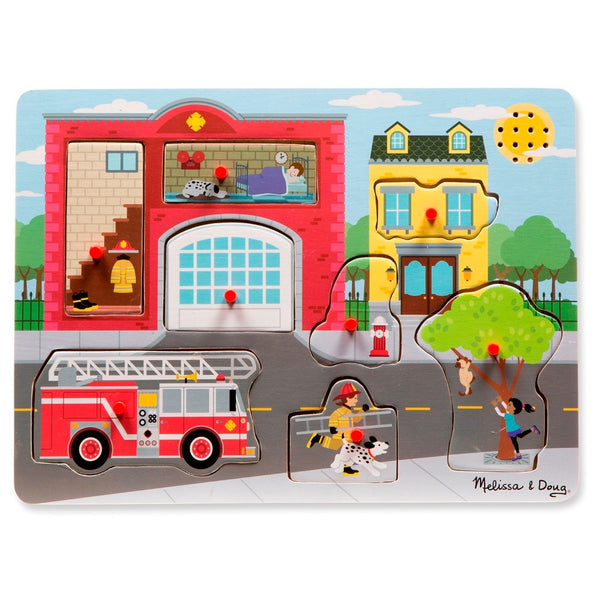 Melissa & Doug The Fire Station Sound Puzzle 2+