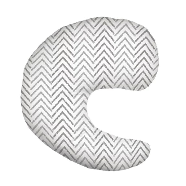 Gia Feeding Pillow - Gray Chevron - BambiniJO