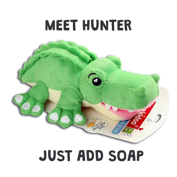 Yookidoo Wash Mitt - Hunter the Crocodile - BambiniJO