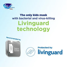 "Load image into Gallery viewer, Fine Guard Reusable Kids Face Mask With Livinguard Technology, ""Limited Edition"""