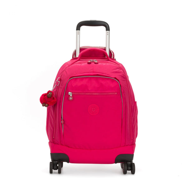ZEA Kids' Large Wheeled Backpack with Laptop Protection True Pink