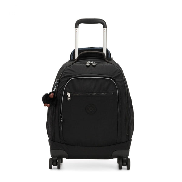 ZEA Kids' Large Wheeled Backpack with Laptop Protection True Black