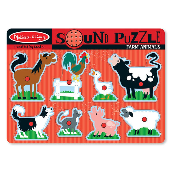 Melissa & Doug SOUND PUZZLE FARM ANIMALS 2+