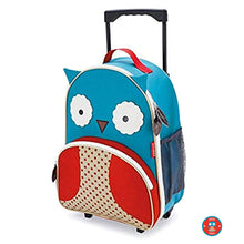 Load image into Gallery viewer, Zoo Kids Rolling Luggage Otis - Owl - BambiniJO