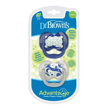Load image into Gallery viewer, Dr. Brown's Advantage Pacifier - Stage 1, Glow in the Dark, 2-Pack - BambiniJO