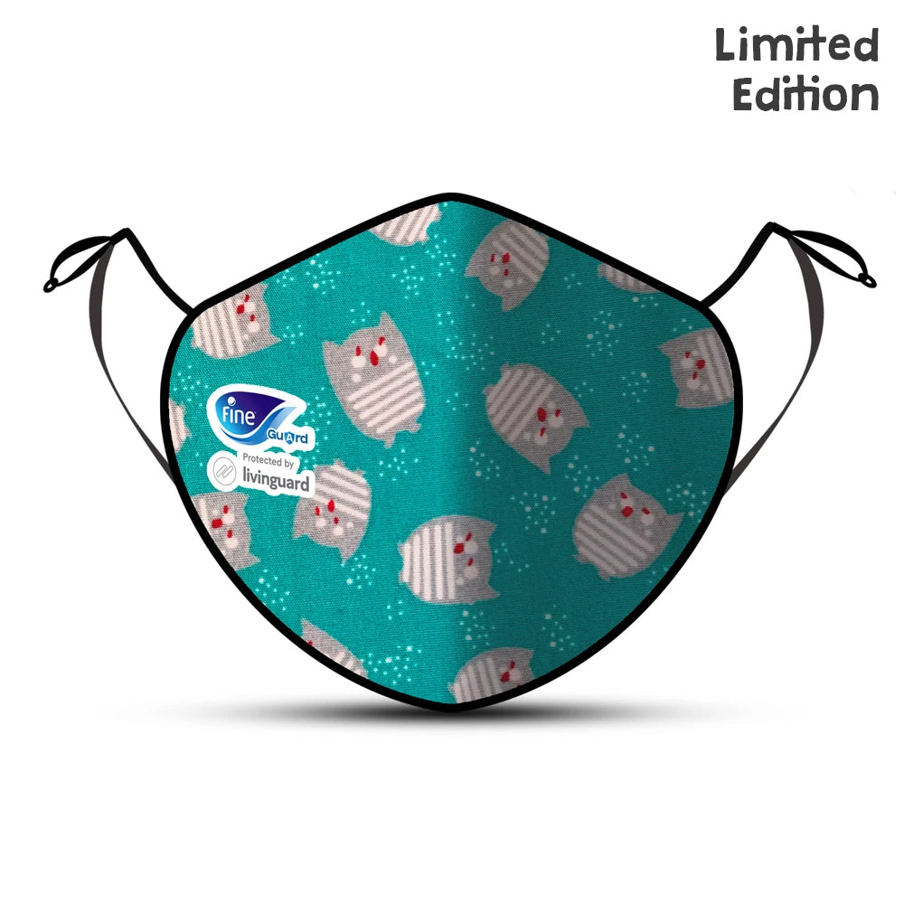 Fine Guard Reusable Kids Face Mask With Livinguard Technology,