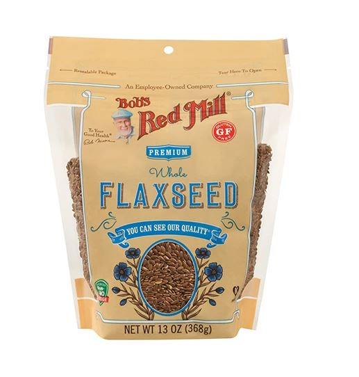 WHOLE BROWN FLAXSEEDS (368G) - GLUTEN FREE - BambiniJO