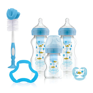 Dr Brown's Options+ Anti-Colic Baby Bottles Gift Set, Blue - BambiniJO