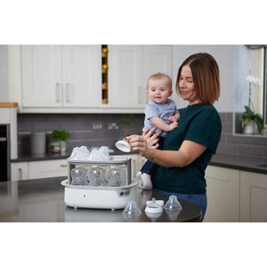Tommee Tippee Super Steam Advanced Electric Steriliser for 6 Baby Bottles, Black - BambiniJO