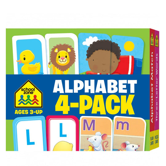 Alphabet Flash Card 4 Pack - BambiniJO