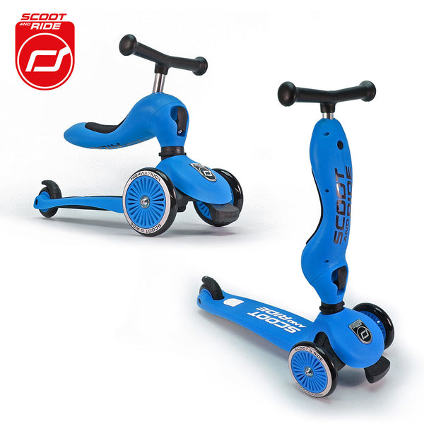 Scootandride - Highwaykick 2in1 1-5 years Blue - BambiniJO