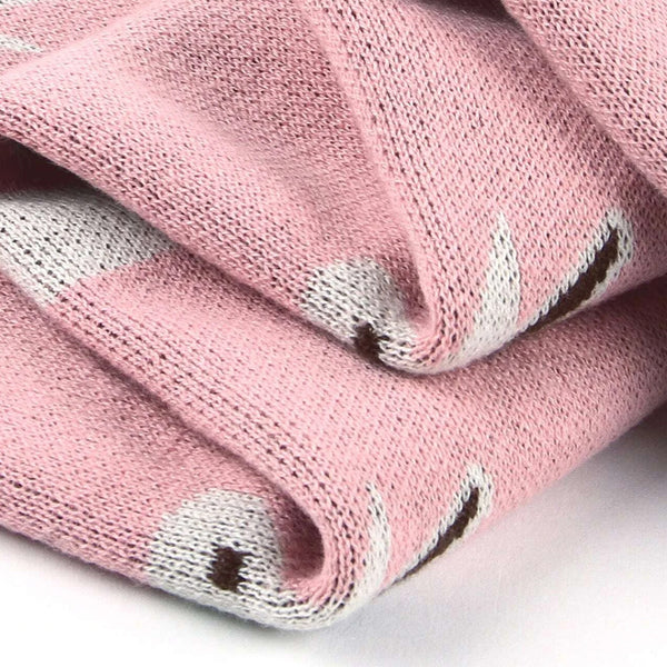 Pink Bunny Cotton Blanket