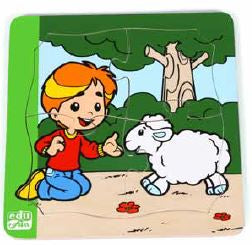 Edu Fun - Playing with my sheep 4 piece Puzzle - BambiniJO