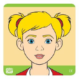 Edu Fun - Know Your Face Puzzle Girl - BambiniJO