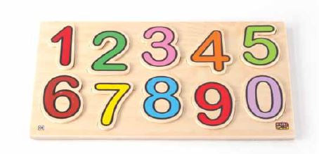 Edu Fun -Wooden Numbers Board - BambiniJO