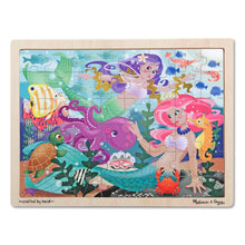 Load image into Gallery viewer, Melissa & Doug Mermaid Fantasea Wooden Jigsaw Puzzle - 48pc