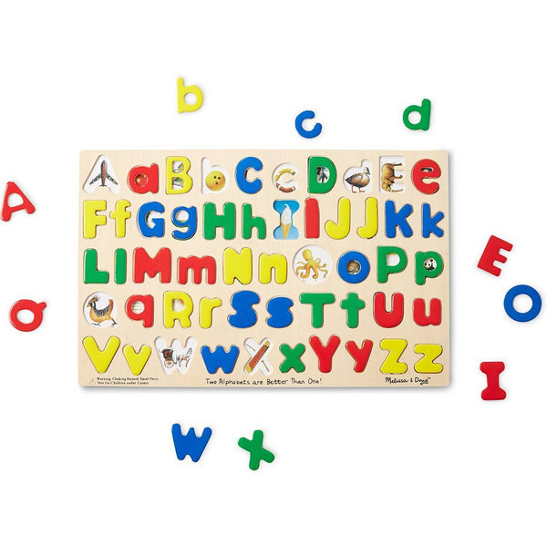 Melissa & Doug Upper and Lower Case ABC's and Animal Pictures Wooden Toy Set
