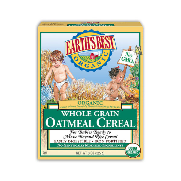 ORGANIC WHOLE GRAIN OATMEAL CEREAL 6m+ (227G)