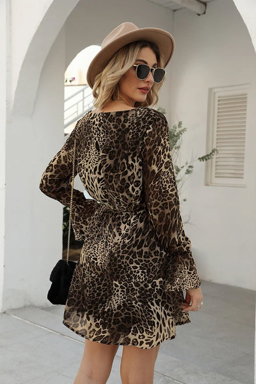 Aria Leopard Mini Dress - Fashion Movements dress