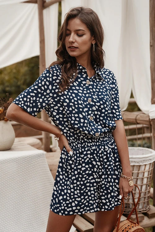 Breta Blue Polka Dot Jumpsuit - Fashion Movements jumpsuit
