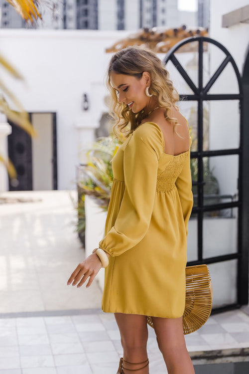 Sira Yellow Mini Dress - Fashion Movements dress