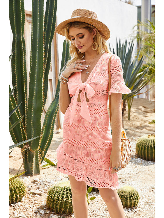 Willow Pink Bow Tie Dress - Fashion Movements dress