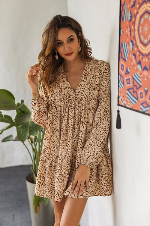 Clema Leopard Dress - Fashion Movements dress