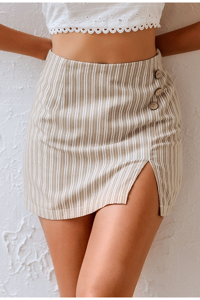 Fallon Button Skort - Fashion Movements Skirt