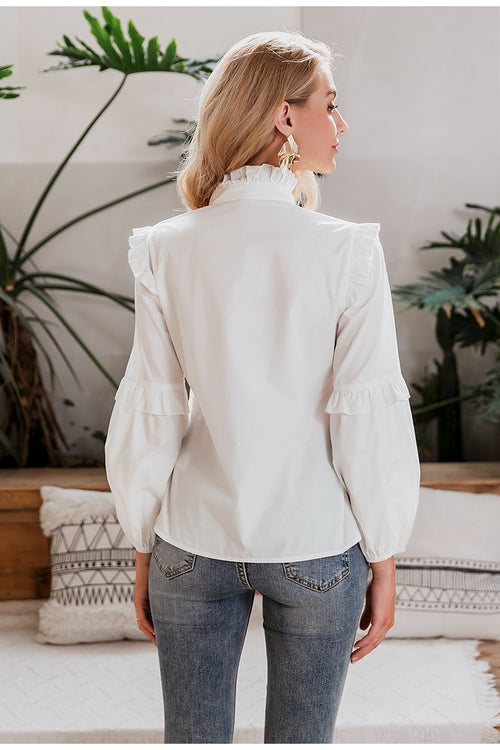 Emanuela White Blouse - Fashion Movements Blouse