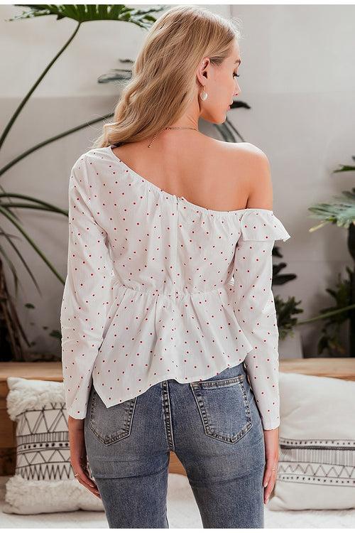 Joy One Shoulder Blouse - Fashion Movements Blouse