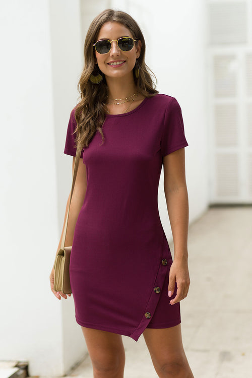 Elia Red Ribbed Dress - Fashion Movements dress