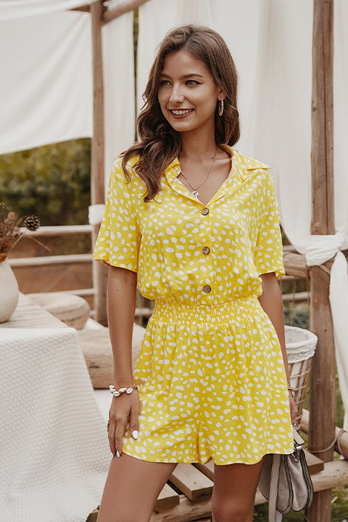 Breta Yellow Polka Dot Jumpsuit - Fashion Movements jumpsuit