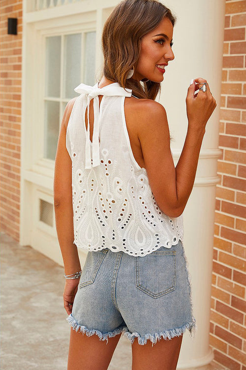 Fraye Embroidered Tank Top