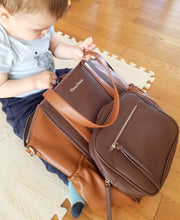 Load image into Gallery viewer, OLIVIA Diaper Bag (Chocolate)