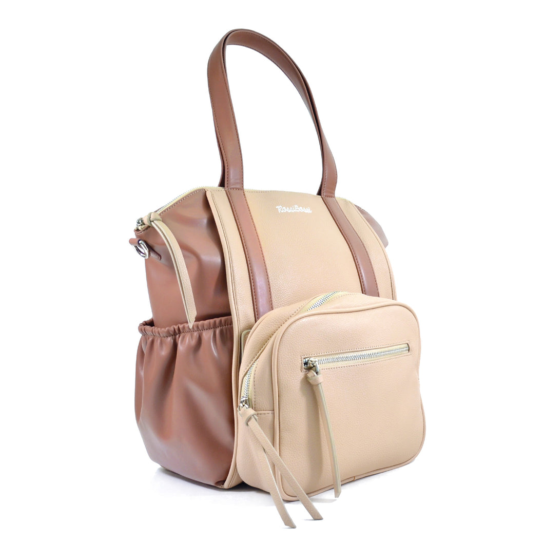 OLIVIA Diaper Bag (Latte)