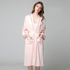 Satin Robe Long