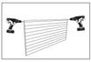 ACE OF SPACE SLAT - WALL STORAGE NZ - DRILL & SCREW EACH TOP CORNER TO HOLD IN PLACE